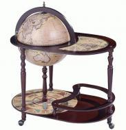 Глобус бар со столиком Гранд Презент 42004N Зодиак сфера 42 см Кремовый/Коричневый (14267)
