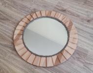 Круглое настенное зеркало в натуральном дереве Бук (Z002)