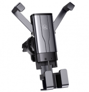 Автомобільний тримач 360 з затиском на дефлектор для телефона, смартфона в машину  USAMS US-ZJ060 Чорний