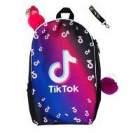 Рюкзак школьный CrazyBags TikTok с брелком (T230L)