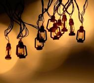 Гірлянда фігурки 20 LED Ліхтарик-2 1698-155  7 м Теплий білий