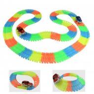 Гоночна траса для дітей Magic Tracks з мостом + 2 машинки Різнобарвний (NF00049)