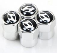 Захисні металеві ковпачки Primo на ніпель з логотипом Hyundai Silver