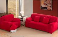 Набір еластичних чохлів на диван та 2 крісла Homytex Червоний