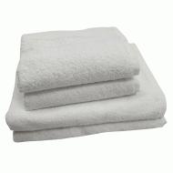 Полотенце махровое белое 50*90 см ( без бордюра) ТМ Аиша