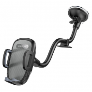 Автомобільний тримач для телефона з затиском на панель/лобове скло BOROFONE BH54 Чорний