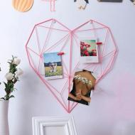 Настенный органайзер Мудборд Сердце Розовый