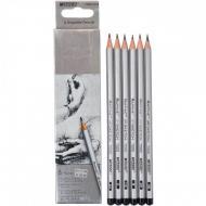 Олівці графітні Marco Raffine 2H-3B 6 шт (7000-6CB)