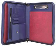 Папка ділова Portfolio для документів формат А5 з екошкіри Синій (Port1011 navy)