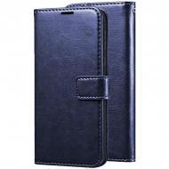 Чохол (книжка) Wallet Glossy з візитниці для Asus ZenFone Max (ZC550KL) Темно-синій