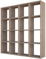 Стелаж для будинку перегородка СТ-4х4 140x140x29,6 см Дуб Сонома
