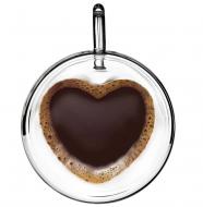 Набір чашок з подвійним дном Con Brio Сердце CB-8930-2 300 мл 2 шт