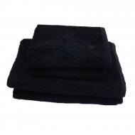 Полотенце махровое черное 50*90 см ( без бордюра) ТМ Аиша
