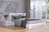 Кровать СЕЛЕНА деревянное с подъемным механизмом 200х160 см Белый