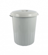 Бак для мусора с крышкой Irak Plastik 50л серый TP 2210