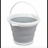 Ведро туристическое складное Collapsible Bucket 10 л Серый (48229 Im22)