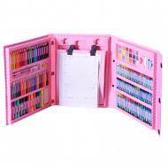 Набір для дитячої творчості і малювання з мольбертом Art Set 208 пр. Рожевий (120.71)