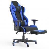 Кресло геймерское с подставкой для ног Vicco Alpha Черно-синий