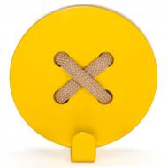 Крючок настенный Glozis Button Yellow H-023 8х8 см