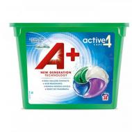 Гель-капсули для прання А+ 4в1 Mountain Breeze для всіх типів білизни 38 шт.