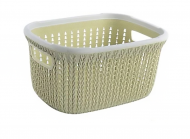Кошик-плетінка для білизни пластиковий Hoz (MMS-R85479)