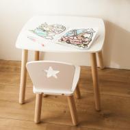 Столик і стільчик Tatoy Star для дітей 4-7 років Білий (11142823)