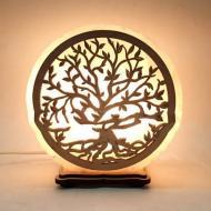Соляная лампа светильник Дерево желтого подсвечивания (20038)