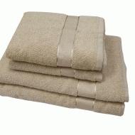 Полотенце махровое кремовое 70*140 см ( бордюр сатин ) ТМ Аиша