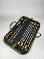 Набор шампуров в сумке из нержавейки c охотничьим ножом Єнот-1 (ES-0001)