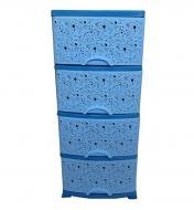 Комод пластиковый Efe Plastics Ажурный Синий (MR12267)