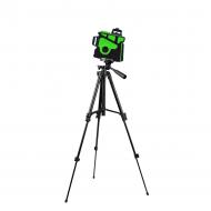 Лазерный уровень самовыравнивающийся Hilda 3D LS055 12 линий и штатив 1 м Зеленый луч