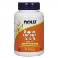Супер Омега 3-6-9 Now Foods 1200 мг 90 желатинових капсул