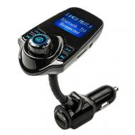FM трансмітер в авто MP3 Bluetooth T10 Чорний