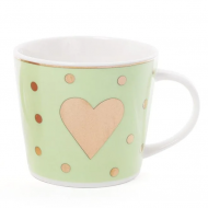Чашка порцелянова Flora Сердце 0,4 л (31469)