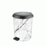 Ведро для мусора с педалью Elif Мрамор 11 л (365)