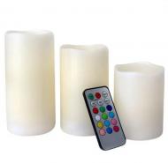 Набор электронных светодиодных свечей с имитацией живого пламени 12 шт