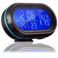Автомобільний годинник VST 7009V електронний з термометром Чорний (1129790575)