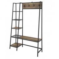 Вешалка стойка для одежды GoodsMetall в стиле Лофт 1800х1500х500 ВШ76
