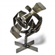 Фигура металлическая Не слышу 23х19х17 см МС-013