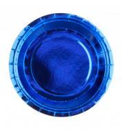 Одноразові паперові тарілки Mirror 10 шт. 18 см Блакитний