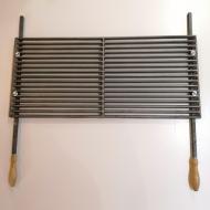 Чугунная решетка гриль-барбекю 72х32 см с ручками 17 прутьев