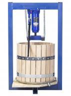 Прес для соку з домкратом 25 літрів ручний/гідравлічний з дубовим кошиком (010101)