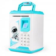 Сейф-копилка Robot Bodyguard 906 Kronos Toys музыкальный с отпечатком пальца Голубой (V160)
