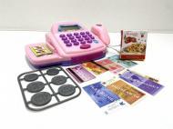 Касовий апарат дитячий Limo Toy 66050 з мікрофоном Світло-рожевий (37681659)