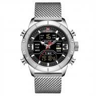 Часы наручные мужские Naviforce Tesla Silver (NF9153)