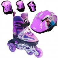 Роликовые коньки Набор Happy Combo Disney 29-33 перестановка колес Frozen Фиолетовый (2T3007E)