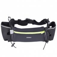 Сумка на пояс спортивна з кишенями для пляшок Romix Чорний (RH09B)
