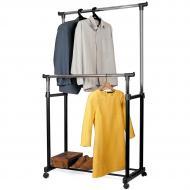 Cтойка для одежды Tatkraft Phoenix двойная на колёсиках 85.5х101х170х45 см (13049)