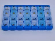Мініорганайзер пігульниця 7 днів у синьому корпусі