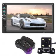 Автомагнитола Lesko 7018G GPS 2 DIN с 7 дюймовым сенсорным экраном + камера заднего хода + пульт на руль